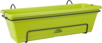 Elho Green Basics allin1 Blumenkasten-Set inkl. Halterung 70x26x17cm lime