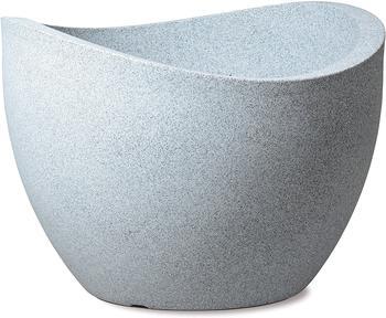 Scheurich Pflanzschale Wave Globe Ø40cm Weiß/Granit