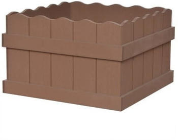 vidaXL Planter WPC Brown 40 x 40 x 25 cm