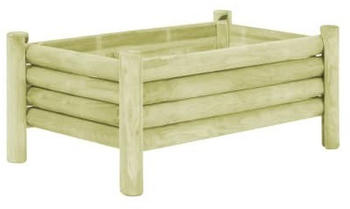 vidaXL Planter Impregnated Pine Wood 100 x 60 x 42 cm