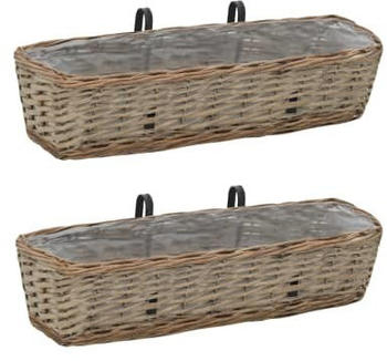 vidaXL Balcony Planter 2 pcs Wicket