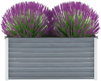 vidaXL Planter Galvanized steel 100 x 40 x 45 cm Grey