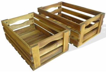 vidaXL Apple Crates 2 Pieces-Set