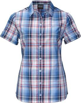 Jack Wolfskin Maroni River Shirt Women night blue checks