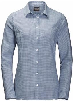 Jack Wolfskin Manitoulin Island Shirt blue indigo checks
