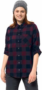 Jack Wolfskin Holmstadt Shirt burgundy checks