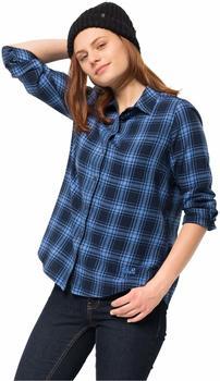 Jack Wolfskin Arendal Shirt Women opal blue checks