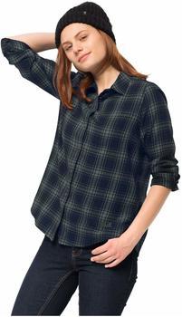 Jack Wolfskin Arendal Shirt Women greenish grey checks