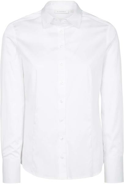 Eterna Modern Classic Satinbindung Langarm Bluse (5352-D708) weiß