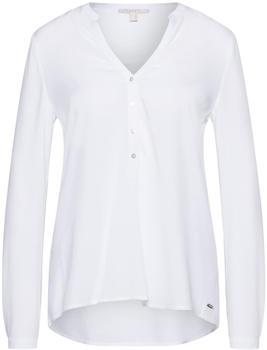 Esprit Henley-Bluse mit Turn-up-Ärmeln white (998EE1F802-100)