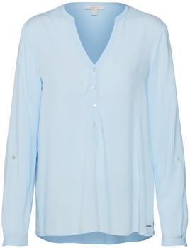 Esprit Henley-Bluse mit Turn-up-Ärmeln light blue (998EE1F802-440)