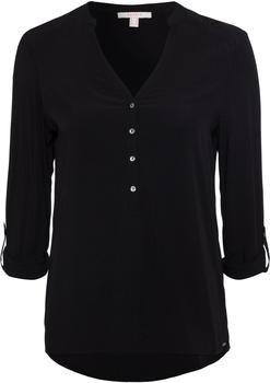 Esprit Henley-Bluse mit Turn-up-Ärmeln black (998EE1F802-001)