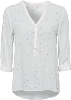 Esprit Henley-Bluse mit Tupfen und Turn-up-Ärmeln off white (998EE1F803-110)