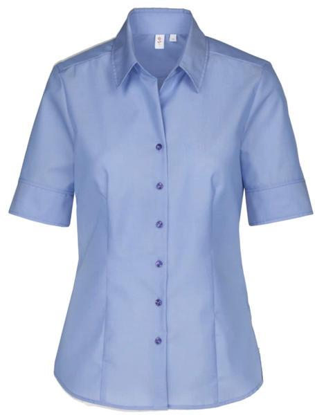 Seidensticker Kurzarm Fil a fil Hemdbluse (60.080605) blau