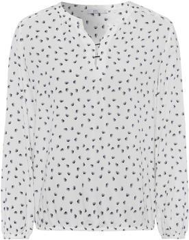 edc by Esprit Print-Bluse mit Henley-Ausschnitt off white (999CC1F800-110)