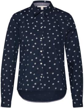 Esprit Gemusterte Hemdbluse aus 100% Baumwolle navy (128EE1F002-400)