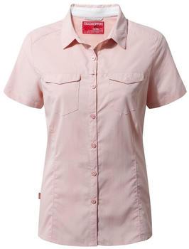 Craghoppers Nosilife Adventure Kurzarm Bluse blossom pink