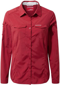 Craghoppers Nosilife Adventure Langarm Bluse fire red (CWS434)