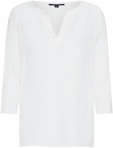 Comma Top with 3/4-length sleeves white