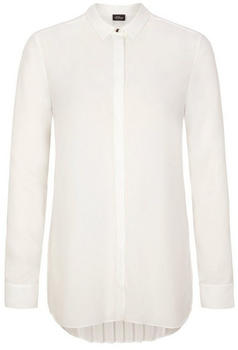 S.Oliver Crêpe blouse with plissé pleats at the back white