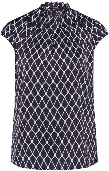 Comma Short Sleeve Blouse (85.899.12.0890) black graphic lines
