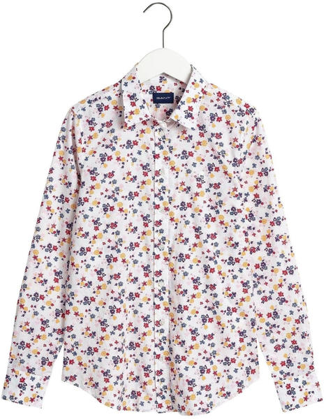 GANT Scribble Floral Stretch Shirt (4320103) eggshell