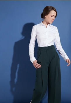 Eterna Langarm Bluse Modern Classic Slim Fit Jersey weiß