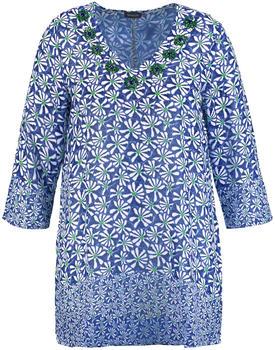 Samoon Tunika mit Blumen-Print Damen peacock blue (140014-21101-8192)