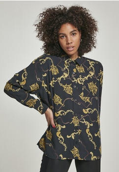 Urban Classics Ladies Viscose Oversize Shirt (TB3220-02356-0046) luxury black