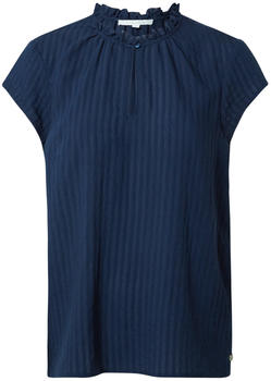 Tom Tailor Denim Verspielte Kurzarm-Bluse mit Raffungen (1021643) real navy blue