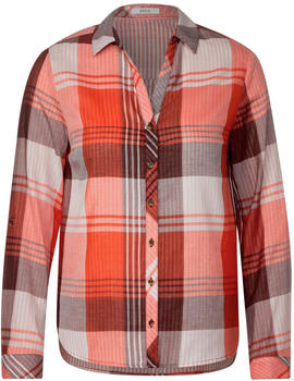 Cecil Checked blouse (342251) funky orange