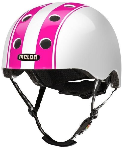 Melon Helm Double pink-white, Fahrradhelm, Skatehelm, BMX-Helm