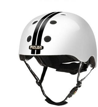 Melon Helm Straight Black White (XL-XXL) glänzend