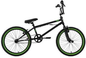 KS-CYCLING Freestyle BMX 20 Zoll CRXX schwarz-grün