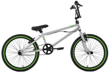 KS-CYCLING KS Cycling BMX 20 Zoll, »CRXX«, silber-grün