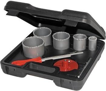 Silverline Tools Wolframkörnung Lochsägensatz 8-teilig 33-83 mm