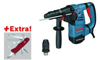 Bosch Bohrhammer mit SDS-plus GBH 3-28 DFR, mit Klappmesser Victorinox in L-BOXX