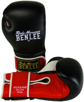 BENLEE Rocky Marciano Rocky Marciano Sugar Deluxe Boxhandschuhe, Black/Red, 20 oz