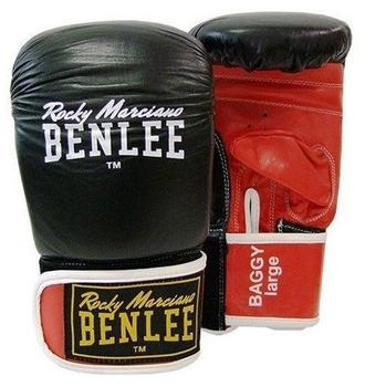 BENLEE Rocky Marciano Unisex- Erwachsene Baggy Leather Bag Mitts, Black/Red, S
