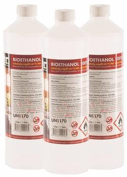 Höfer Chemie Premium Bio-Ethanol 100% (3 x 1 Liter)