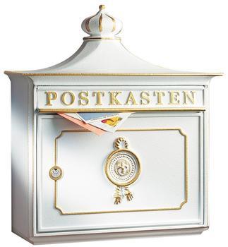 Burg Wächter Guss-Briefkasten Bordeaux weiß (1895 W)