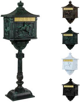 Maxstore antiker Standbriefkasten olivgrün