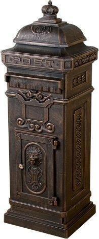 Maxstore Antik-Säulenbriefkasten bronze (GLY-03-A)