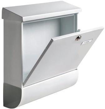 Silber BURG-W/ÄCHTER Anlagenbriefkasten Verzinkter Stahl A5 Einwurf-Format Pocket 5871 Si