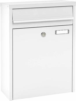 mefa-briefkasten-piano-350-mit-namensschild-weiss-grau-schmaler-wandbriefkasten-schluessel
