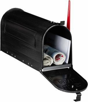 Relaxdays US Briefkasten, Vintage, black