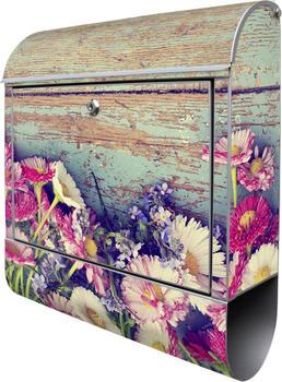 Burg Wächter Motivbriefkasten Blumenpflücken 460 x 380 x 125 mm