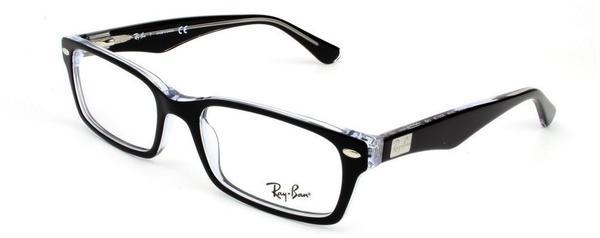 Ray-Ban RX5206 2034 (black on transparent)