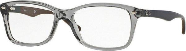 Ray-Ban RX5228 5546 (grey transparent/blue on green-brown)