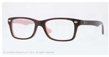Ray-Ban RY1531 3580 (dark brown on pink)